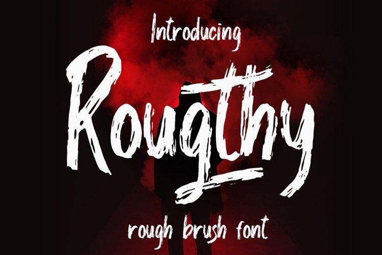 Rougthy Brush Font example image 1