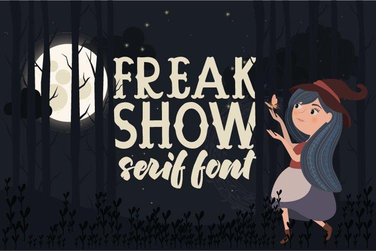 Freak Show Serif Font example image 1