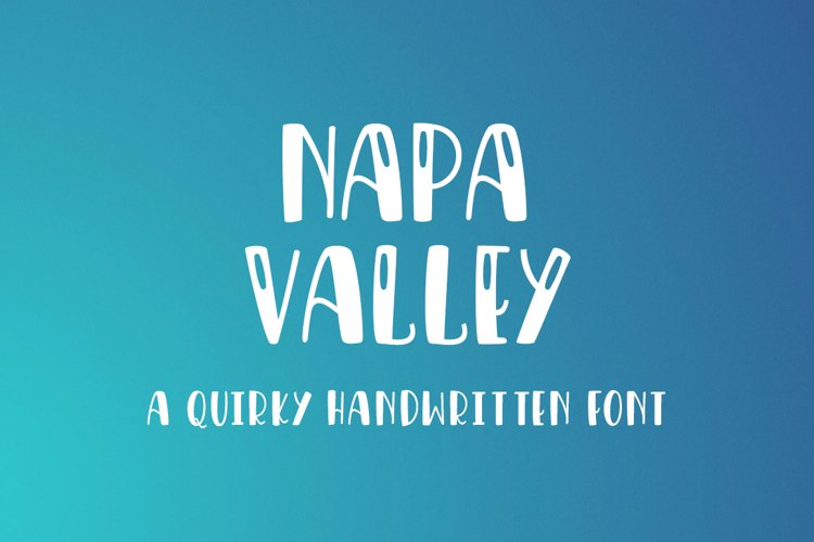 Napa Valley - a fun craft font example image 1