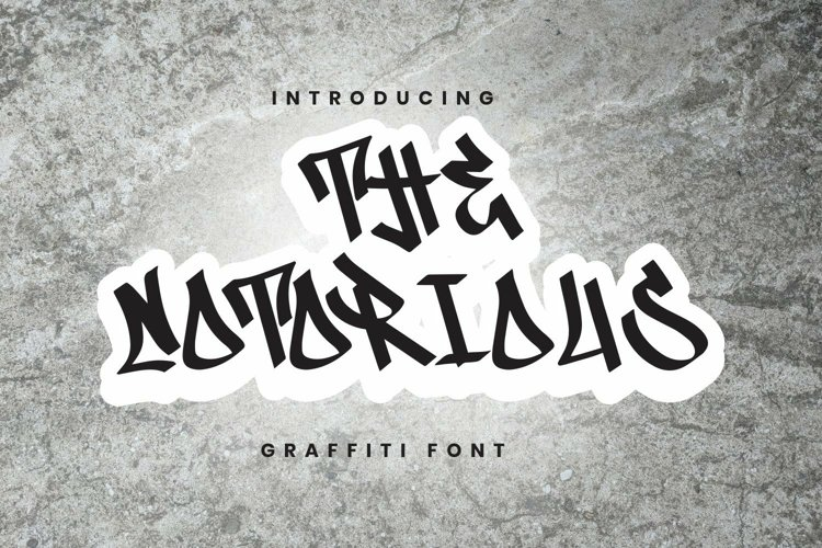 Web Font The Notorious Font example image 1