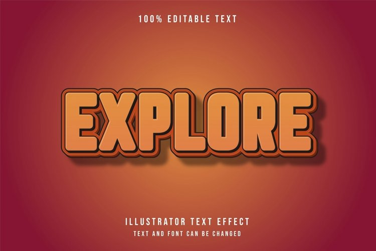 Explore - Text Effect example image 1