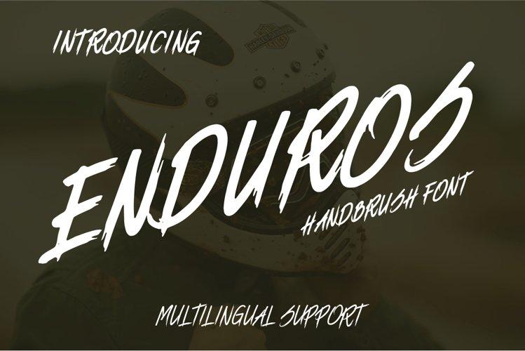 ENDUROS - HANDBRUSH FONT example image 1