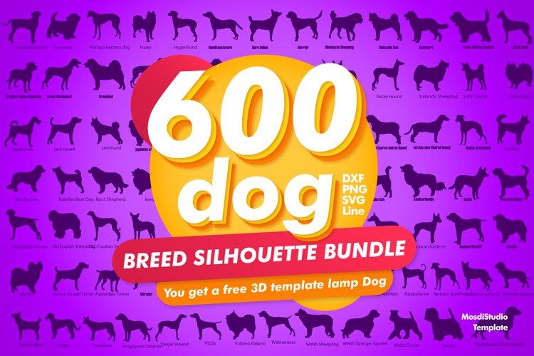 600 Dog Breeds Silhouette Bundle, Dog Svg File for Cricut