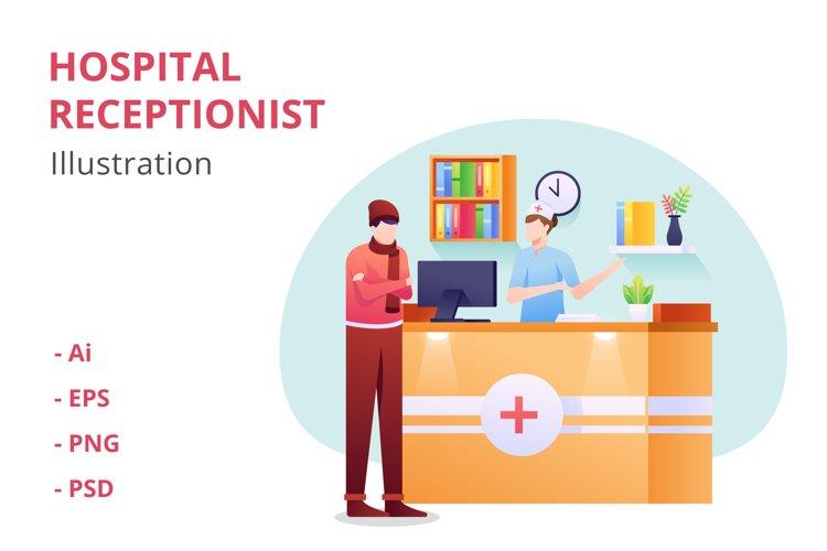 Hospital Receptionist Illustration example image 1