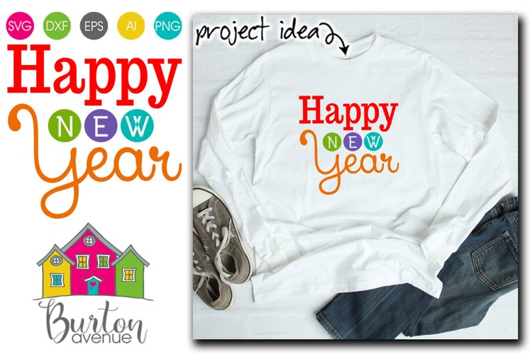 Happy New Year Modern SVG File example image 1