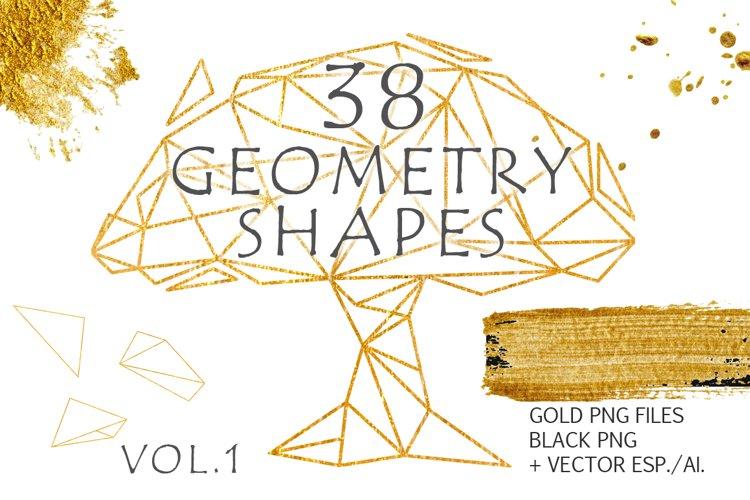 Gold Geometry shapes Vol. 1