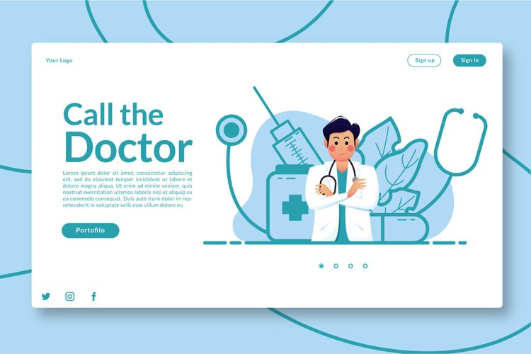 Call the Doctor - Landing Page example image 1