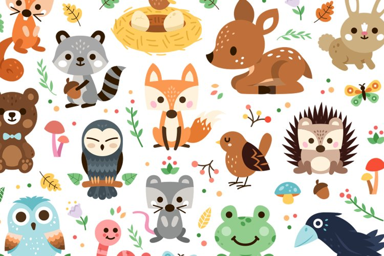 Woodland Decoration Animal Clipart