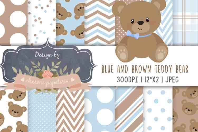 Teddy Bear Baby Boy Baby Shower, Teddy Bear Pink and Brown example image 1