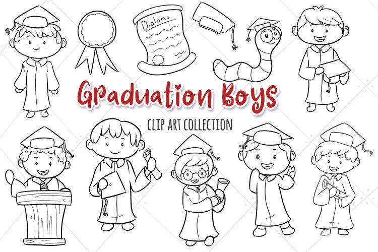 Graduation Boys Digital Stamps example image 1