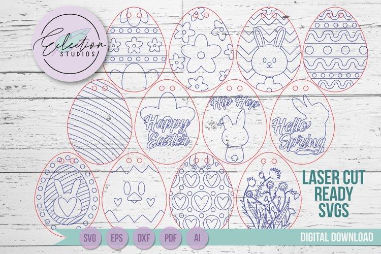 Laser DIY Kit SVG, Easter Egg Kit SVG, Easter Laser SVG example 1
