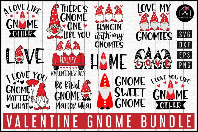 Valentine Gnome SVG Bundle| MB92