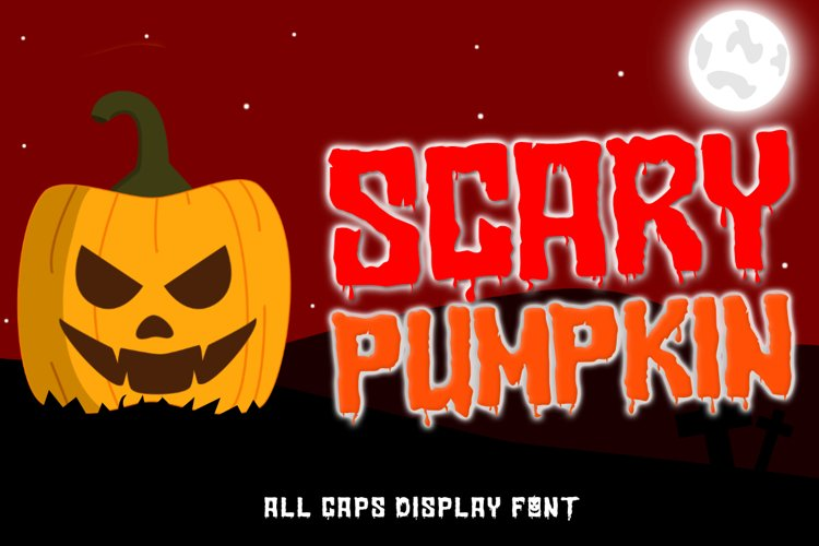 Scary Pumpkin | A Halloween Display Font example image 1