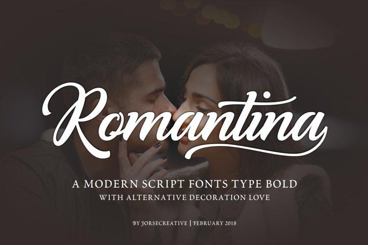 Romantina Font example image 1