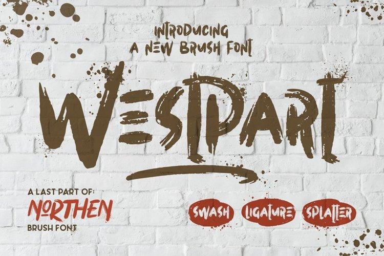 WESTPART - Brush Fonts example image 1