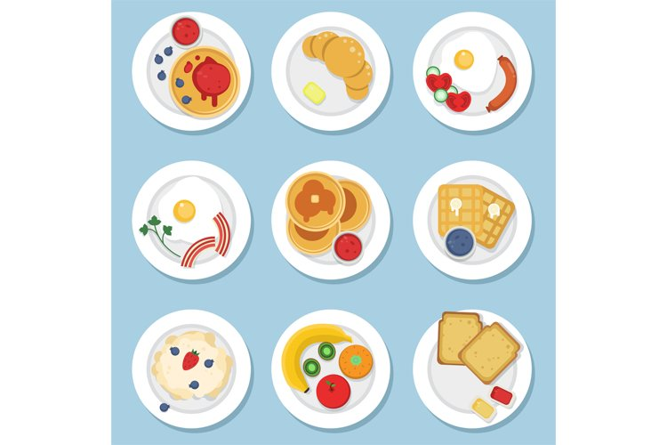 Set of healthy food for breakfast example image 1
