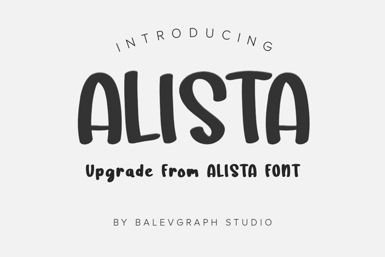 Alista Font Upgrade example image 1