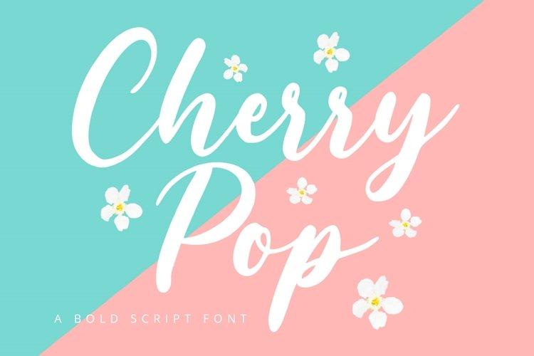 Cherry POP - Bold Script Font example image 1