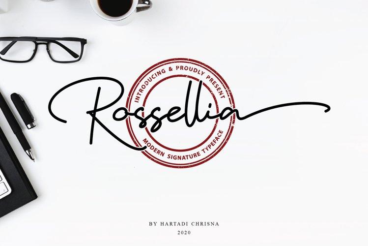 Rossellia - Modern Signature Typeface example image 1