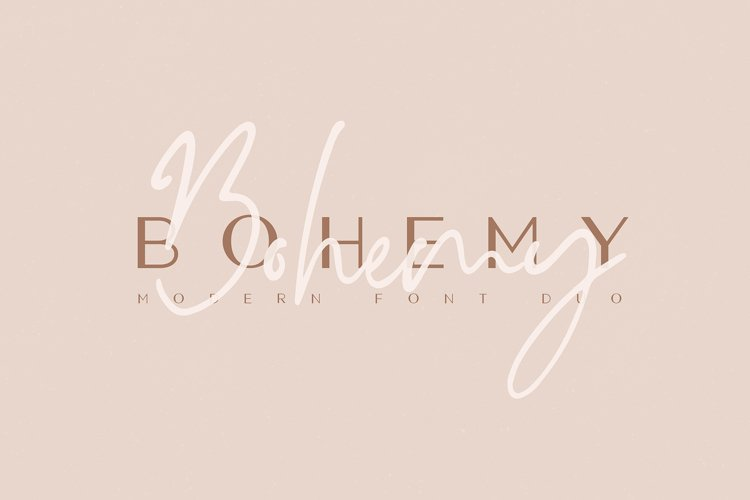 Bohemy Font Duo example image 1