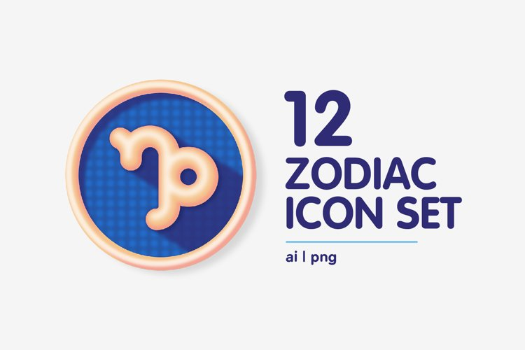 Colourful Zodiac Astrology Signs Icon Set example 1