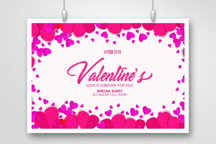 Valentine Greeting Card Psd example image 1