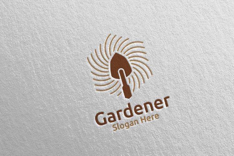 Botanical Gardener Care Logo Design 48 example image 1