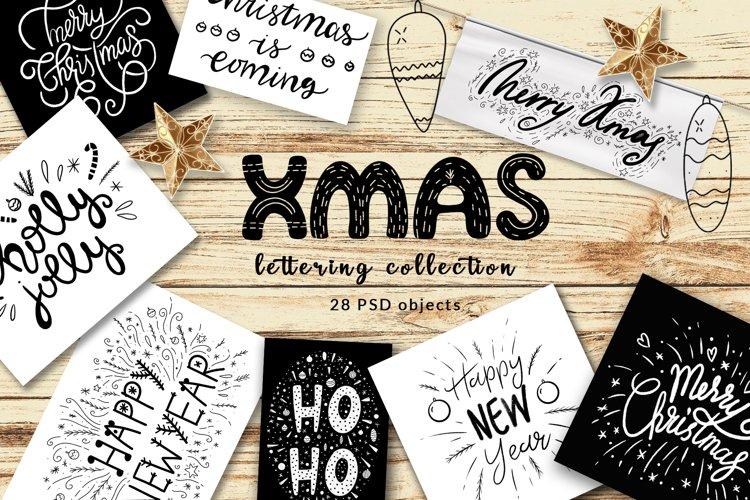 Christmas Lettering illustrations