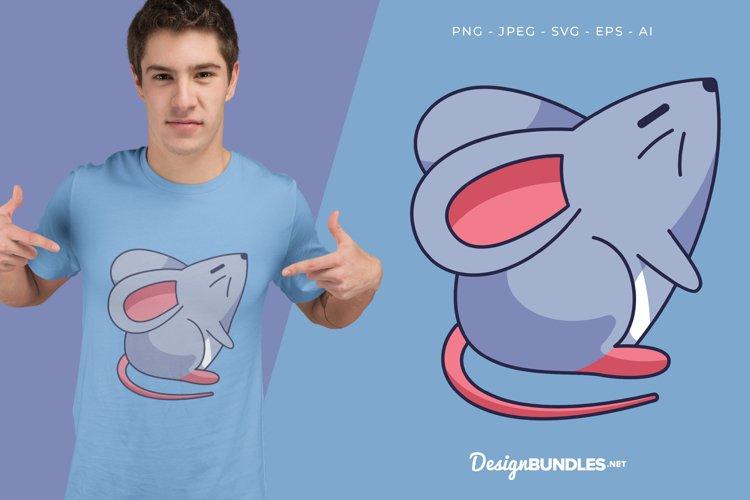 Sniffing Mouse Vector Illustration For T-Shirt Design
