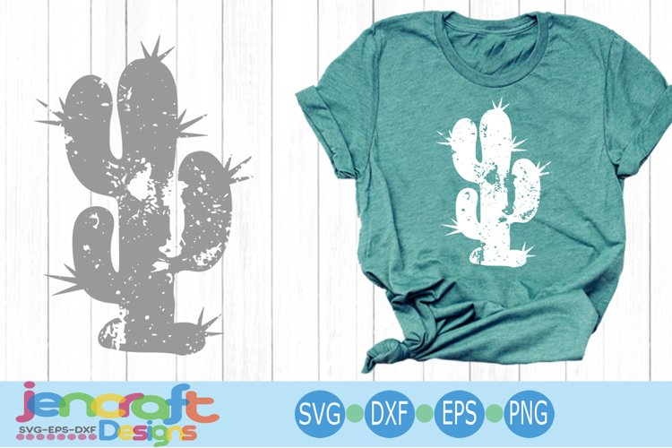 Distressed Cactus SVG Desert Summer Grunge svg