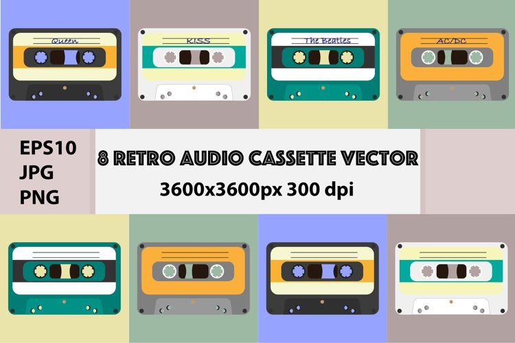 Retro Audio Cassette Vector example image 1