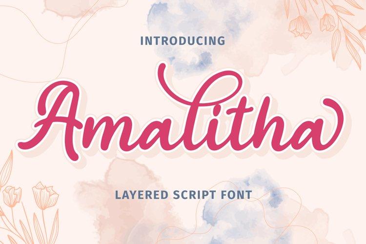 Amalitha - Layered Script Font example image 1