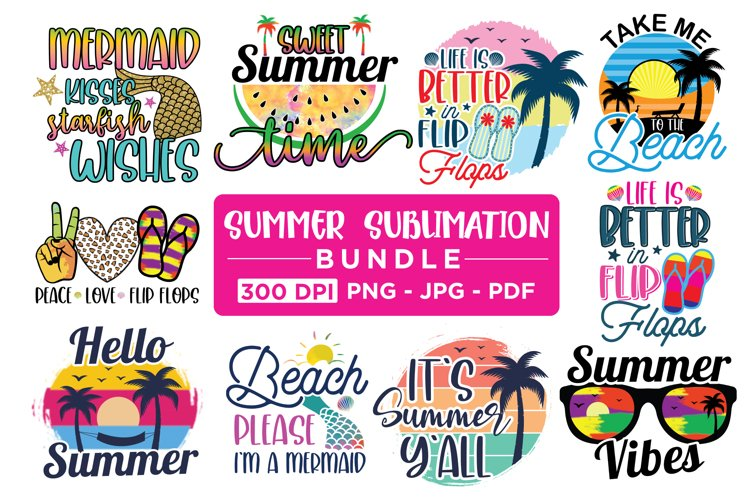 Summer Sublimation Bundle - 20 Designs example image 1