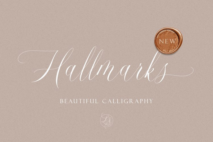 Hallmarks - Beautiful Calligraphy example image 1