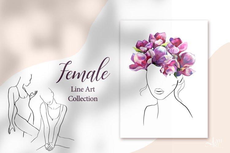 Female line art illustration