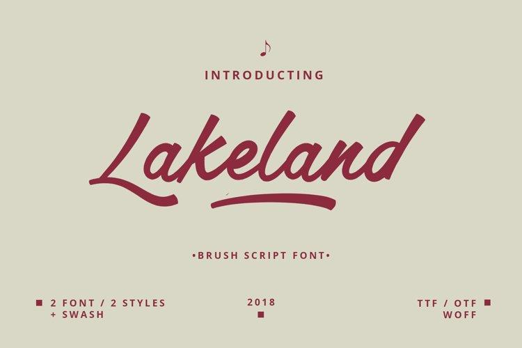 Lakeland Brush font example image 1