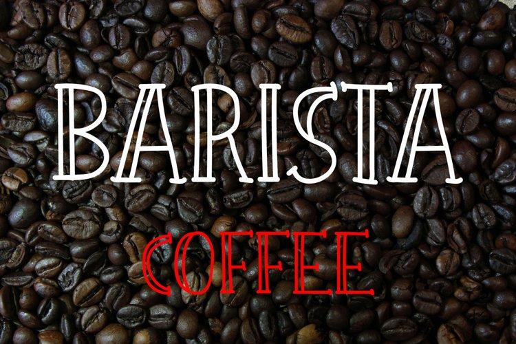 Barista Urban Coffee Font example image 1