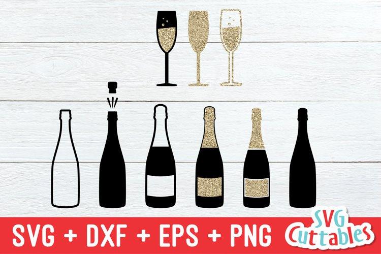 Champagne Bottles SVG | Champagne Glasses SVG
