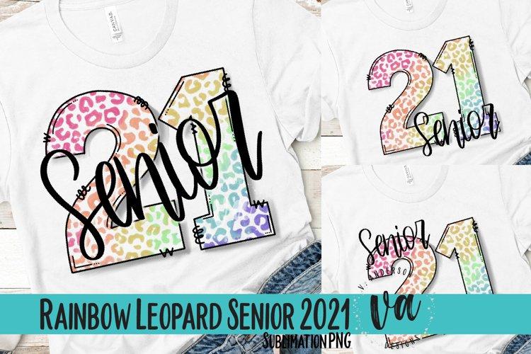 Senior 2021 Rainbow Leopard Bundle Sublimation PNGs
