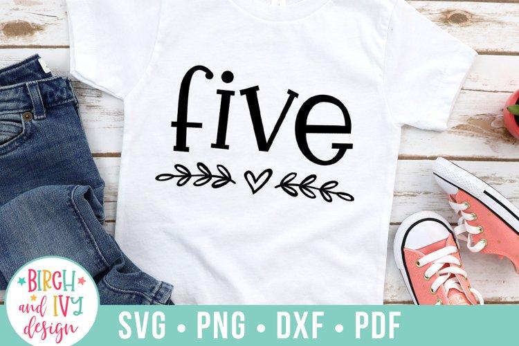 Five SVG Cut File