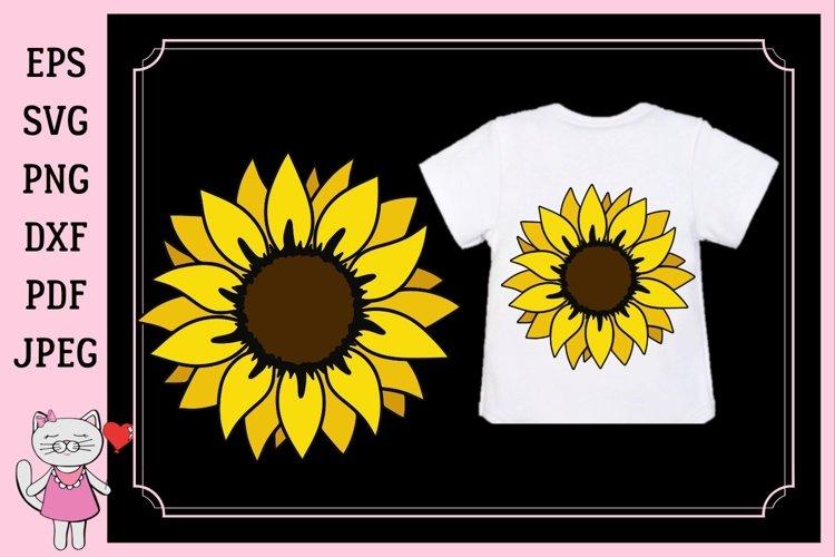 Sunflower monogram, svg, dxf, png, jpg, pdf example image 1