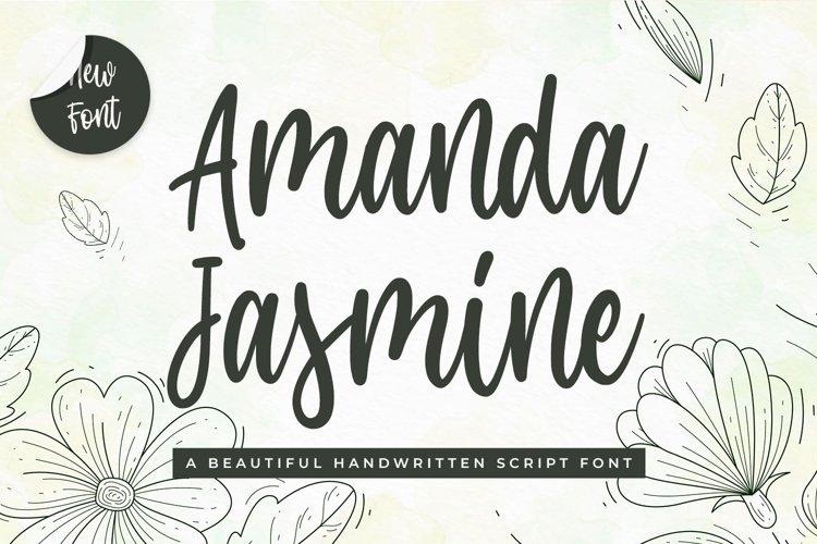 Modern Script Font - Amanda Jasmine example image 1