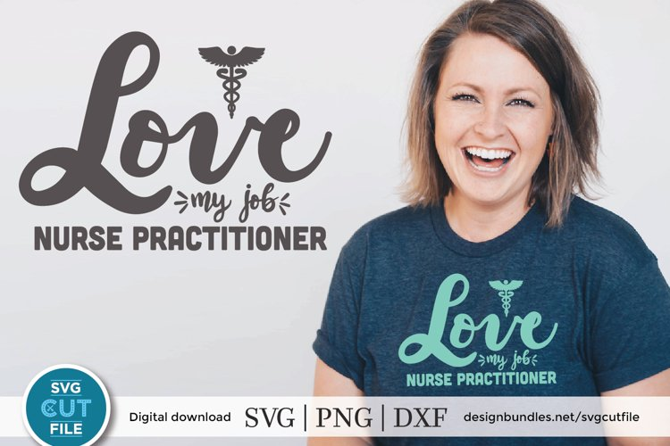 Nurse practitioner svg file for crafters - an np svg example image 1
