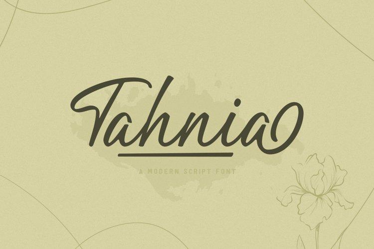 Tahnia - Modern Script example image 1