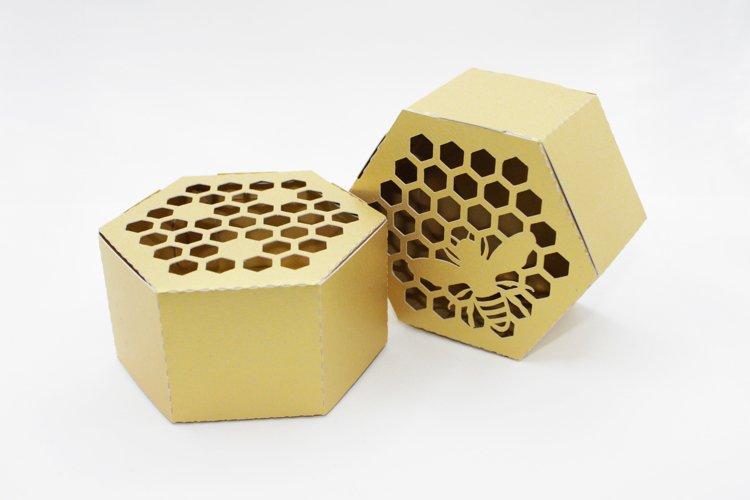 Honey bee favor box template, Honey wedding favors