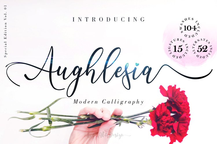 Aughlesia // Modern Calligraphy Font - WEB FONT