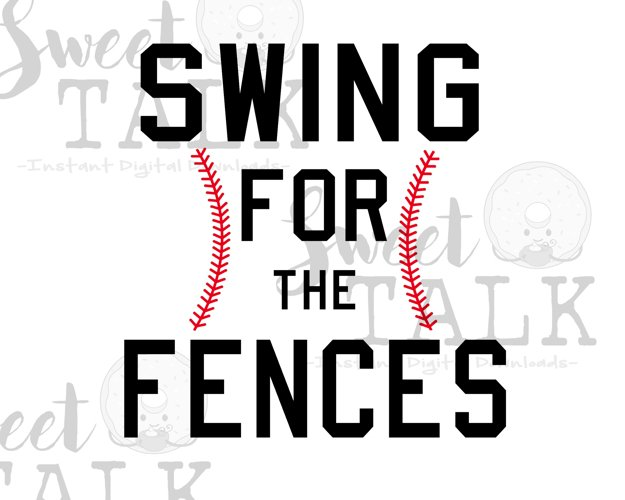 Baseball/softball digital download/Swing for the fences example image 1