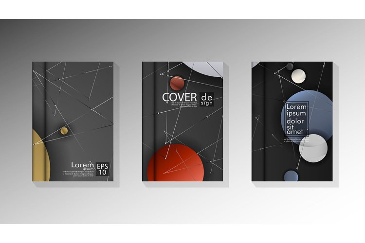 abstract book cover design with a galaxy background . vector