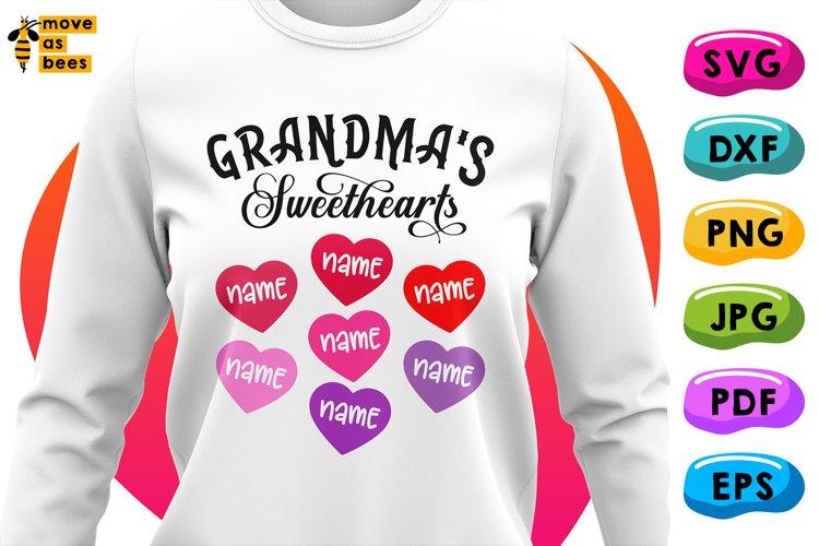Grandmas Sweethearts Svg, Grandmother Valentine Shirt Svg