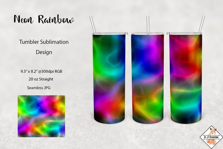 Neon Rainbow Tumbler Sublimation
